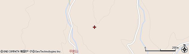 大分県玖珠郡九重町野上平家山周辺の地図