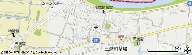 福岡県久留米市三潴町草場周辺の地図