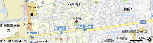 石水寺周辺の地図