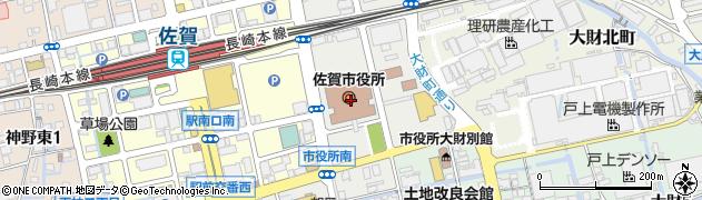 佐賀県佐賀市周辺の地図