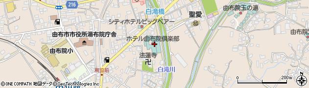 由布院温泉周辺の地図