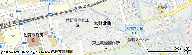 佐賀県佐賀市大財北町周辺の地図