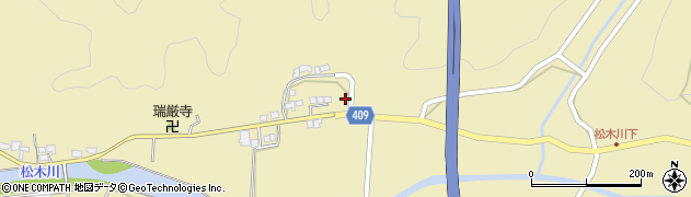 大分県玖珠郡九重町松木735周辺の地図
