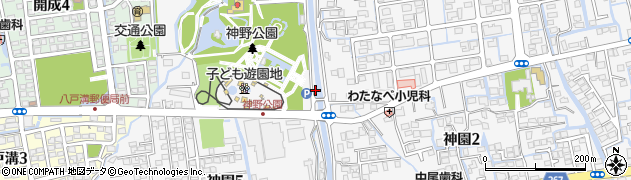 佐賀県佐賀市神園周辺の地図