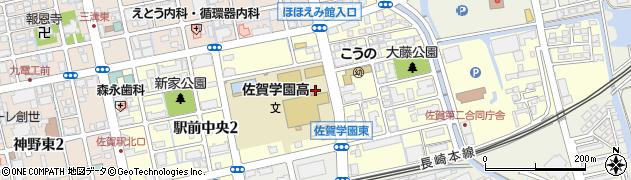佐賀県佐賀市駅前中央周辺の地図