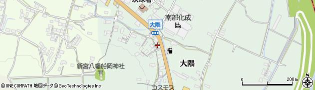 大分県玖珠郡玖珠町大隈周辺の地図