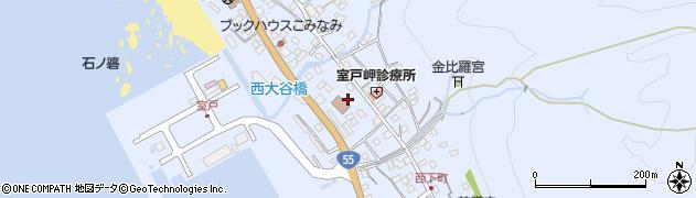 高知県室戸市室戸岬町周辺の地図