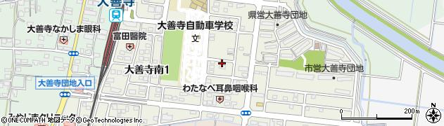 福岡県久留米市大善寺南周辺の地図
