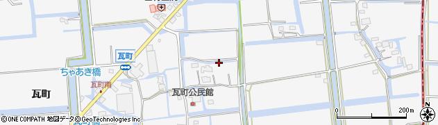 佐賀県佐賀市兵庫町(瓦町)周辺の地図