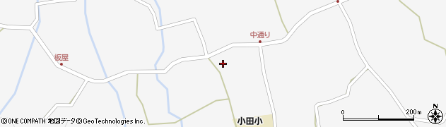 大分県玖珠郡玖珠町小田1928周辺の地図