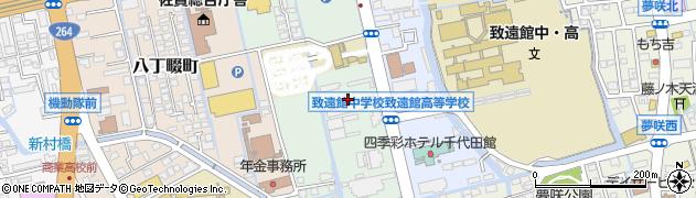 佐賀県佐賀市新中町周辺の地図
