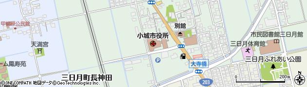 佐賀県小城市周辺の地図