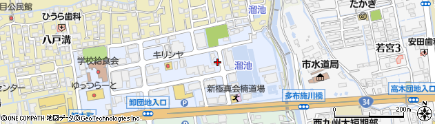 佐賀県佐賀市卸本町周辺の地図
