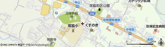 大分県玖珠郡玖珠町塚脇223周辺の地図