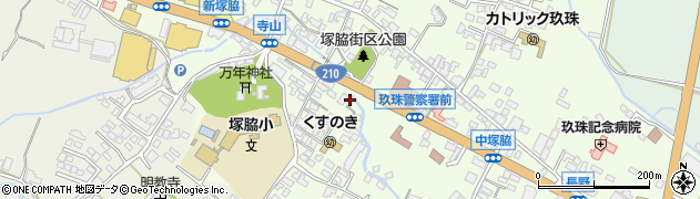 大分県玖珠郡玖珠町塚脇492周辺の地図