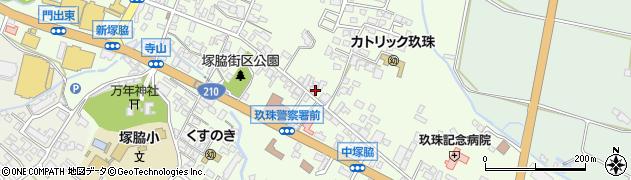 大分県玖珠郡玖珠町塚脇390周辺の地図