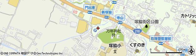 大分県玖珠郡玖珠町塚脇寺山周辺の地図