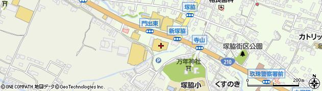 大分県玖珠郡玖珠町塚脇173周辺の地図