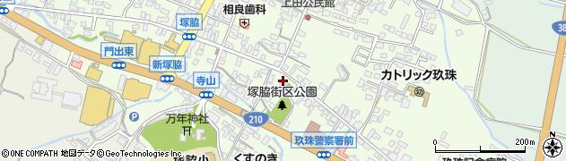 大分県玖珠郡玖珠町塚脇284周辺の地図