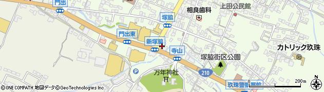 大分県玖珠郡玖珠町塚脇181周辺の地図