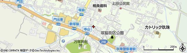 大分県玖珠郡玖珠町塚脇297周辺の地図