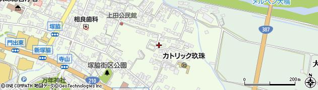 大分県玖珠郡玖珠町塚脇395周辺の地図