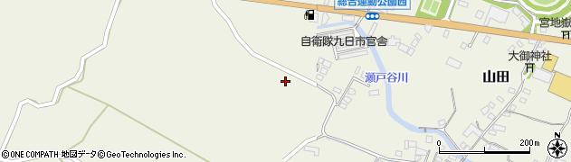 大分県玖珠郡玖珠町山田2318周辺の地図