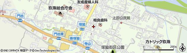 大分県玖珠郡玖珠町塚脇318周辺の地図
