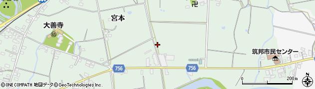 福岡県久留米市大善寺町(宮本)周辺の地図