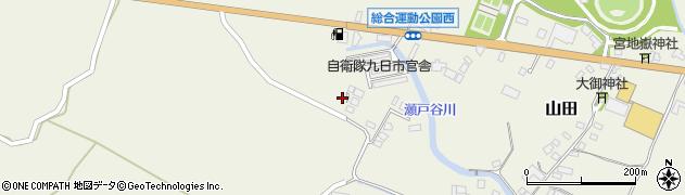 大分県玖珠郡玖珠町山田2302周辺の地図