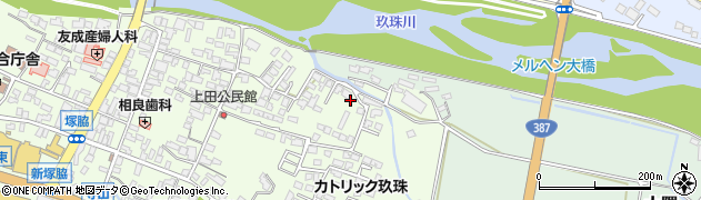 大分県玖珠郡玖珠町塚脇409周辺の地図