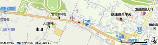 大分県玖珠郡玖珠町山田284周辺の地図