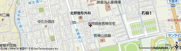 佐賀県佐賀市若楠周辺の地図