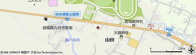 大分県玖珠郡玖珠町山田181周辺の地図