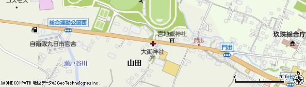 大分県玖珠郡玖珠町山田162周辺の地図