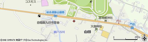 大分県玖珠郡玖珠町山田184周辺の地図