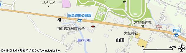 大分県玖珠郡玖珠町山田189周辺の地図
