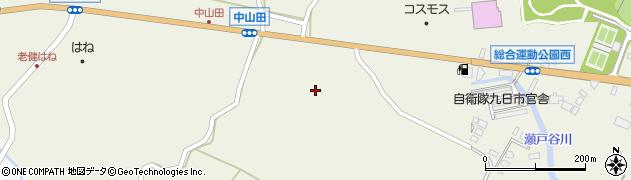 大分県玖珠郡玖珠町山田2492周辺の地図