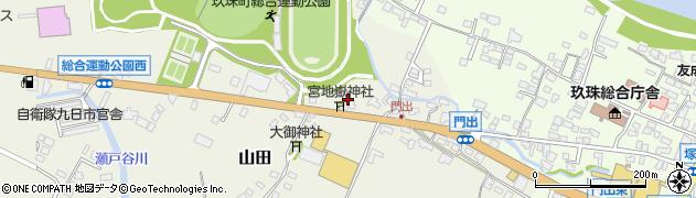 大分県玖珠郡玖珠町山田143周辺の地図