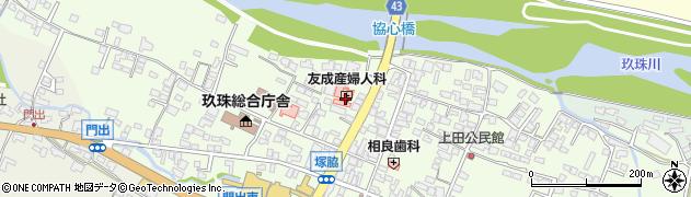 大分県玖珠郡玖珠町塚脇128周辺の地図