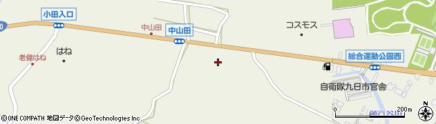 大分県玖珠郡玖珠町山田2486周辺の地図