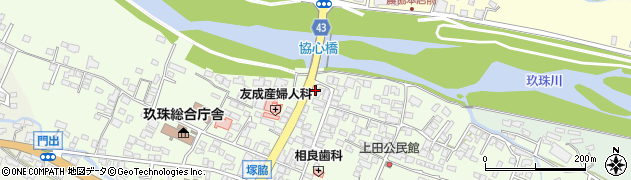 大分県玖珠郡玖珠町塚脇元本町周辺の地図