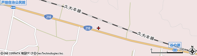 大分県玖珠郡玖珠町戸畑883周辺の地図