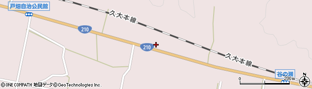大分県玖珠郡玖珠町戸畑921周辺の地図