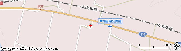 大分県玖珠郡玖珠町戸畑1188周辺の地図