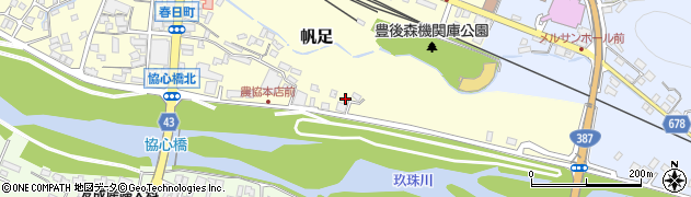 大分県玖珠郡玖珠町帆足397周辺の地図