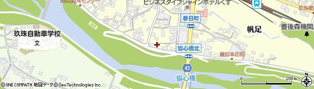 大分県玖珠郡玖珠町帆足335周辺の地図