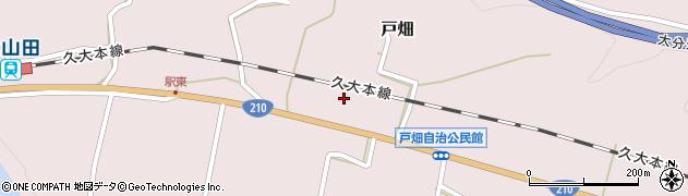 大分県玖珠郡玖珠町戸畑1207周辺の地図