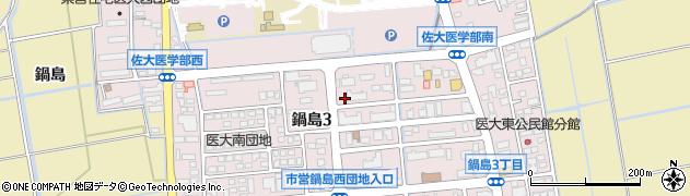佐賀県佐賀市鍋島周辺の地図