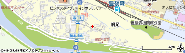 大分県玖珠郡玖珠町帆足257周辺の地図